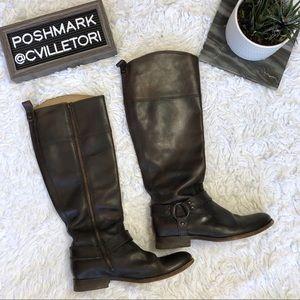 Frye Melissa Harness Boots Wide Calf 9